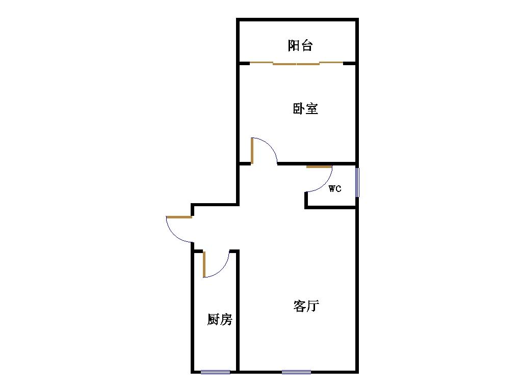 鑫家园 1室1厅 过五年 简装 37万