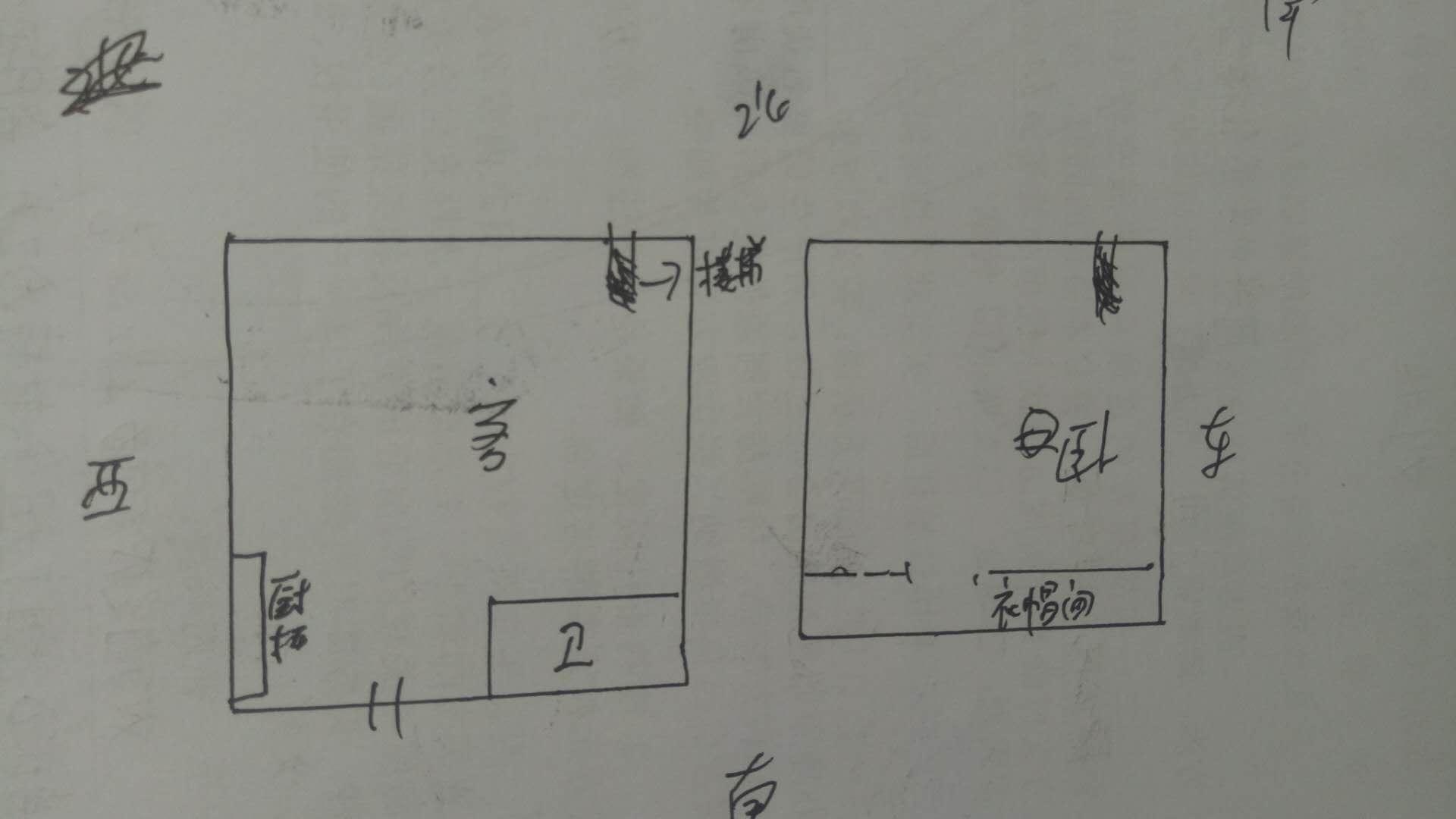 唐人D区(公寓)LOFT 1室1厅 19楼