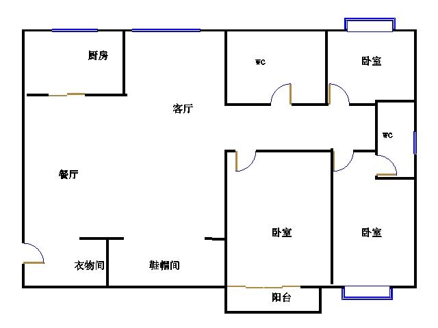 嘉城盛世 3室2厅 20楼