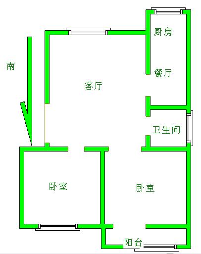 和平公寓北区 2室2厅 双证齐全 精装 100万