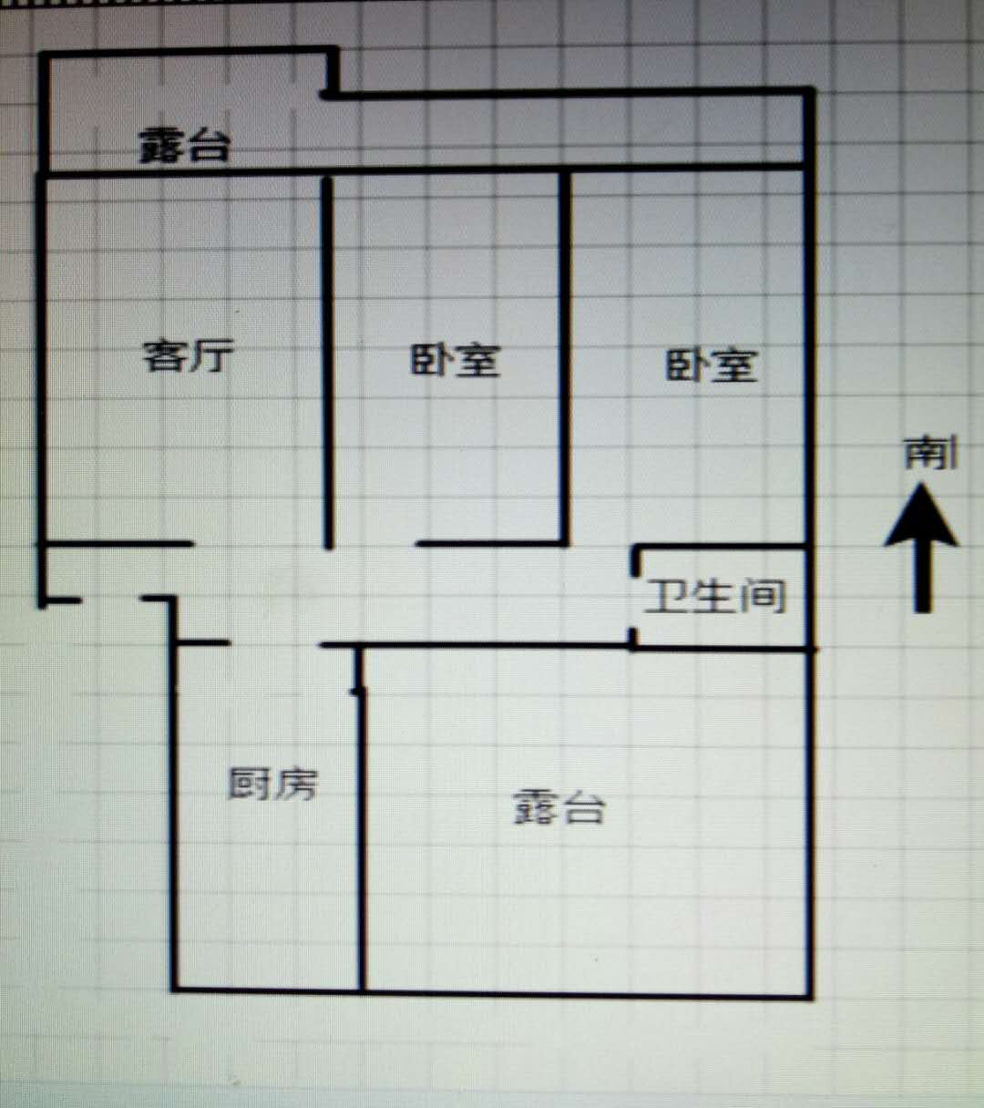 阳光花园小区 2室1厅  简装 25万