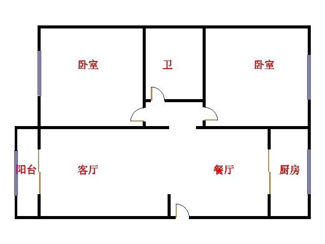 华清庄园 2室2厅 1楼