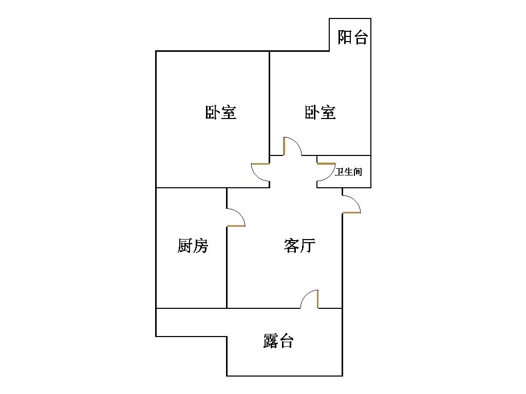 东海现代城小区 2室1厅 6楼