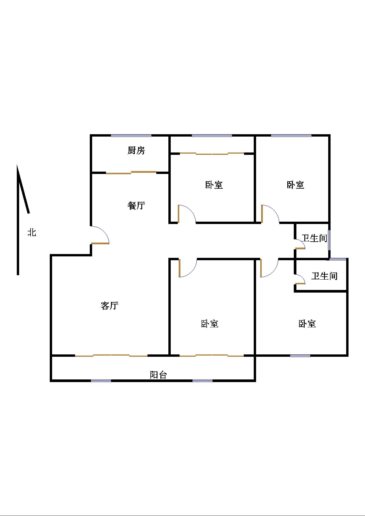德百物流城 4室2厅 4楼