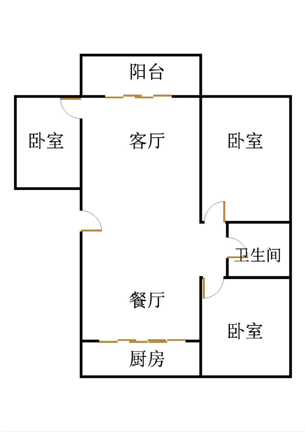 金色雅园 3室2厅 12楼