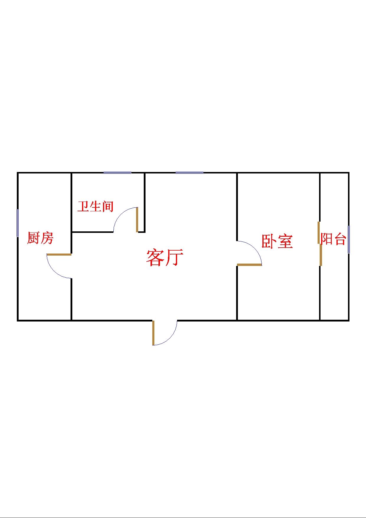新城市花园小区 1室1厅 6楼