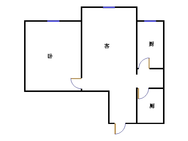 巴塞小镇 1室1厅 15楼