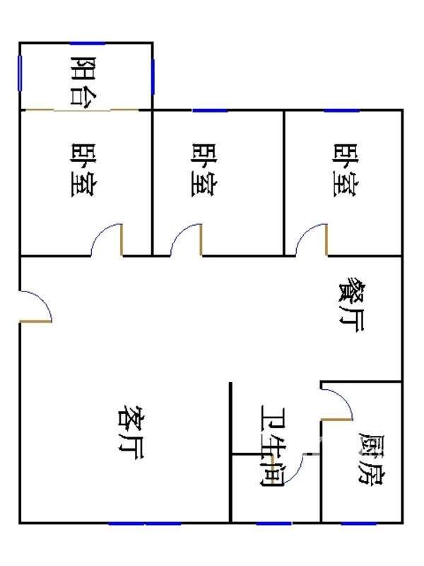 安然居宿舍 3室2厅 4楼