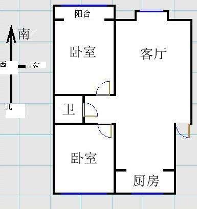金光集团宿舍 2室2厅 3楼