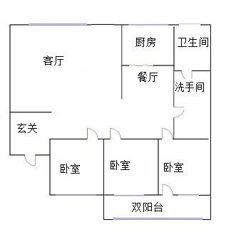 东建小区南区 3室2厅 3楼