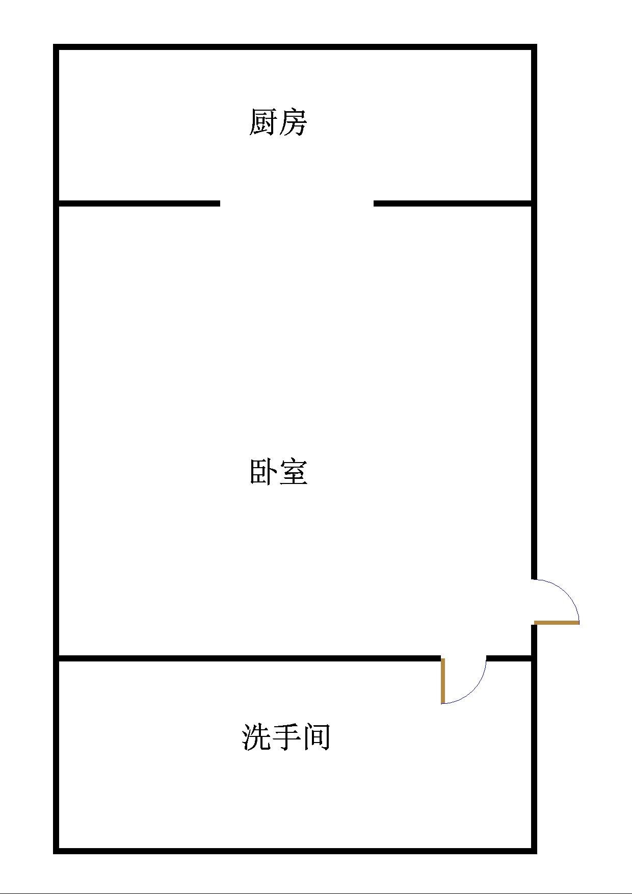 金地华城 1室1厅  精装 30万房型图