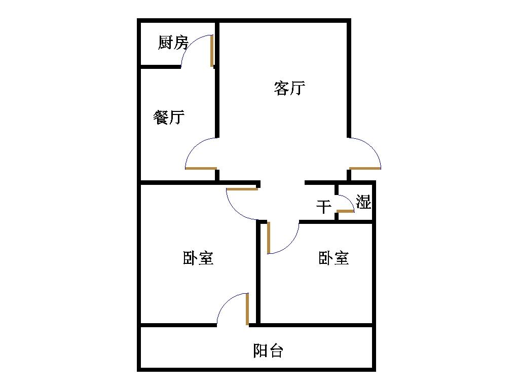 皇明宿舍小区 2室2厅 双证齐全 简装 86万