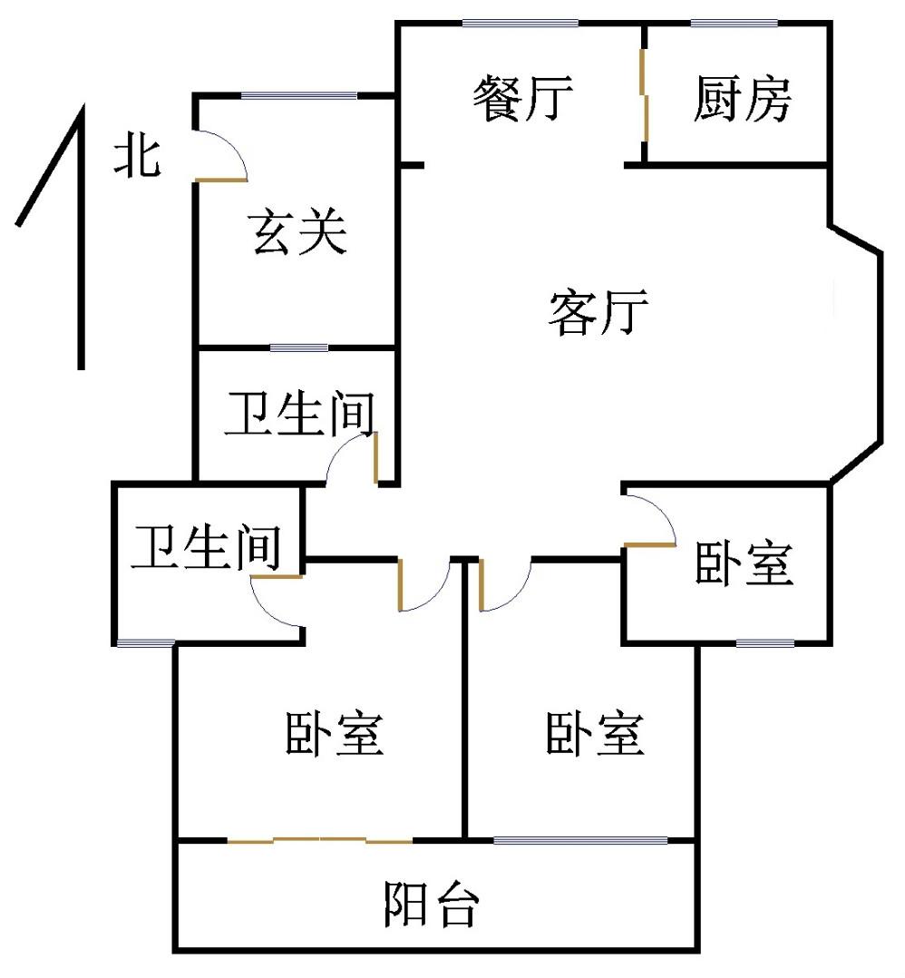 外海.江南水郡 3室2厅 6楼