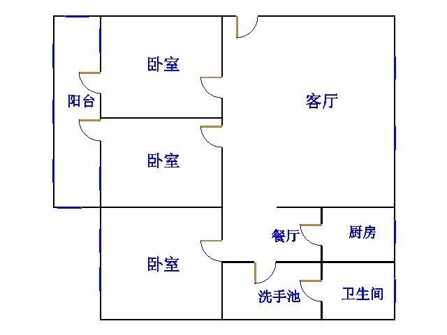 湘江小区南区 3室2厅  简装 96万