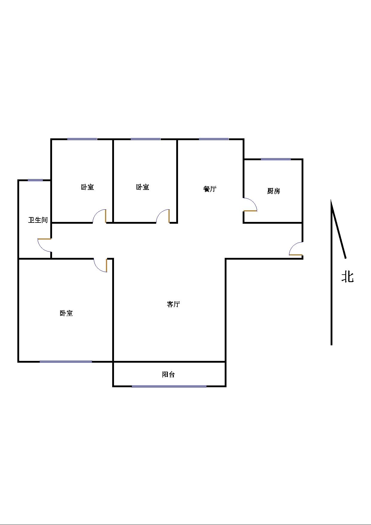 东海香港城 3室2厅  简装 170万