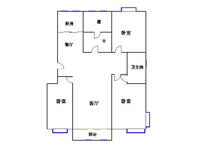 东方明珠小区 3室2厅 双证齐全 精装 230万