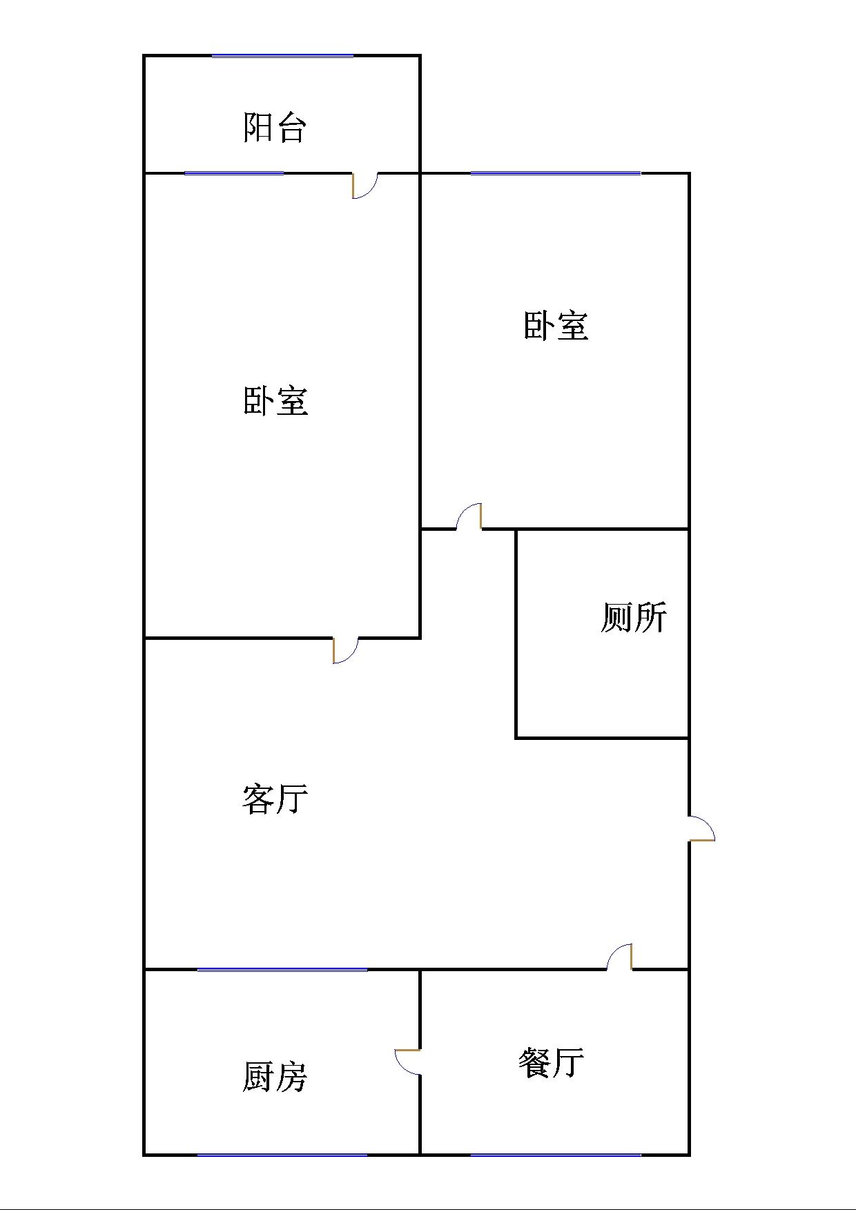 中泰尚居 2室2厅 双证齐全 简装 98万