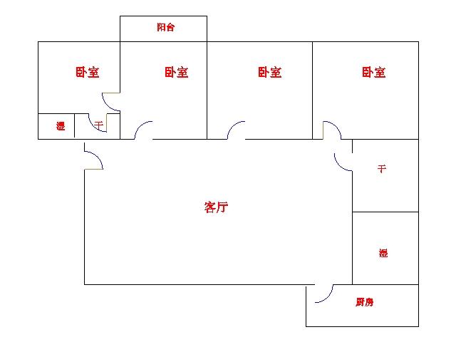 工商银行宿舍 4室2厅 双证齐全过五年 简装 165万