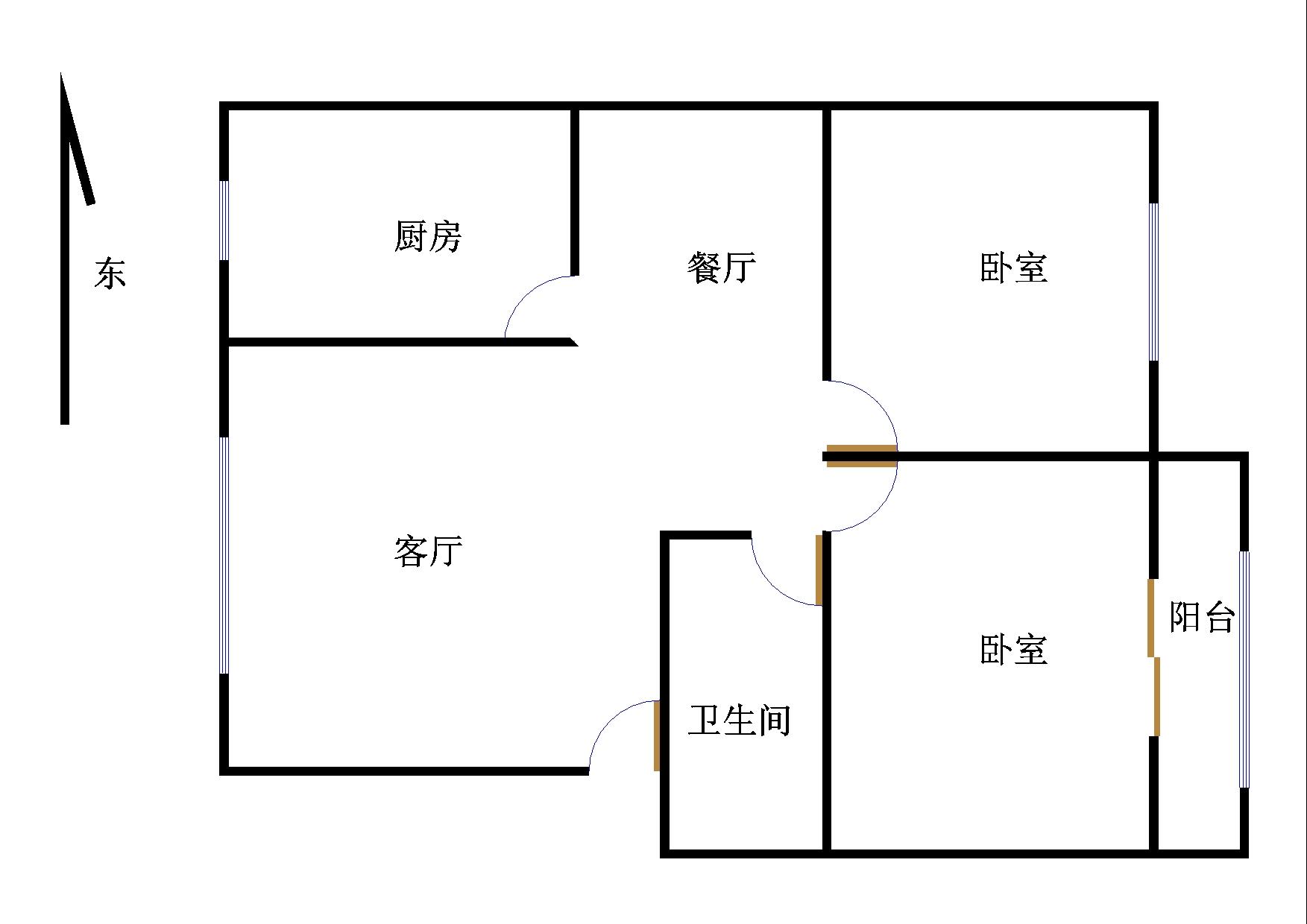 小温新区 2室2厅  简装 48万