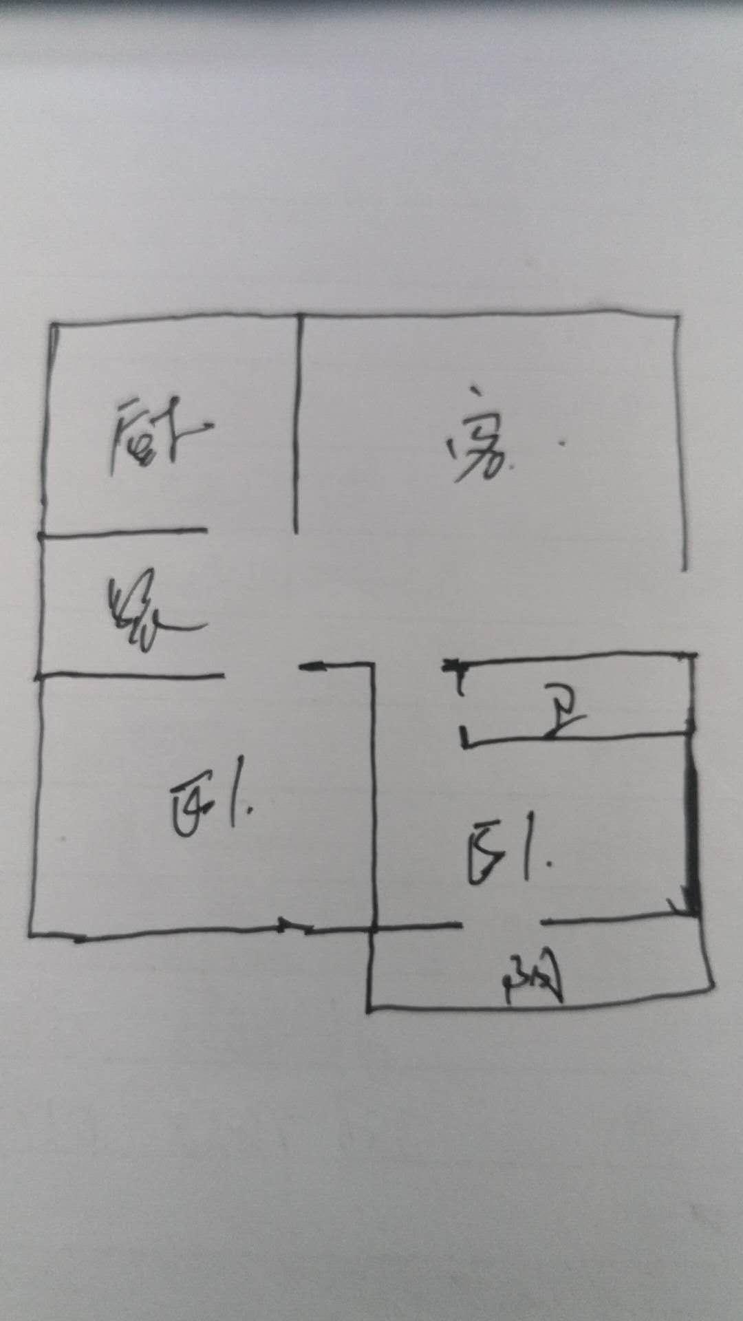 岔河紫薇园 2室1厅 4楼