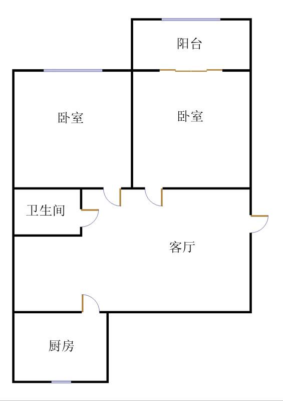 湘江小区西区 2室2厅  简装 83万