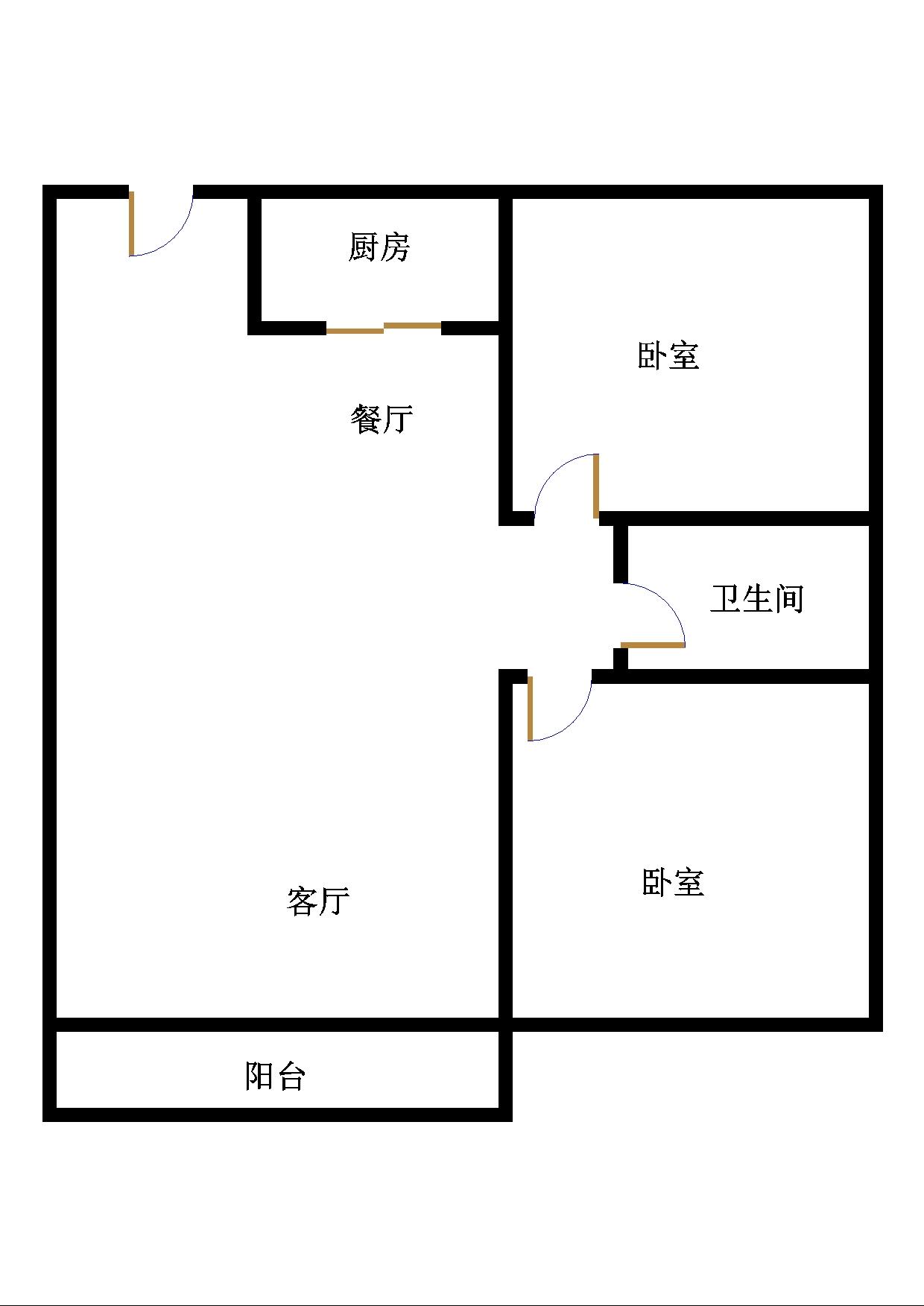 尚城国际 2室2厅 23楼