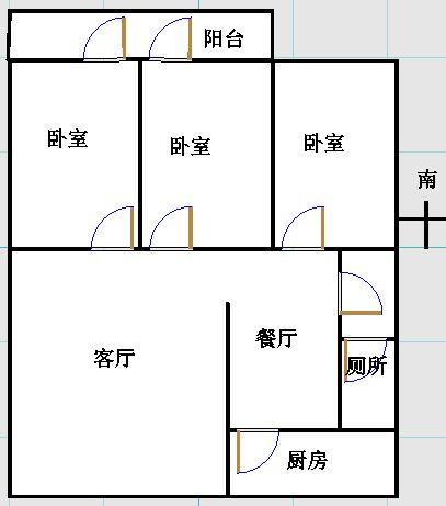 湘江小区南区 3室2厅  简装 95万