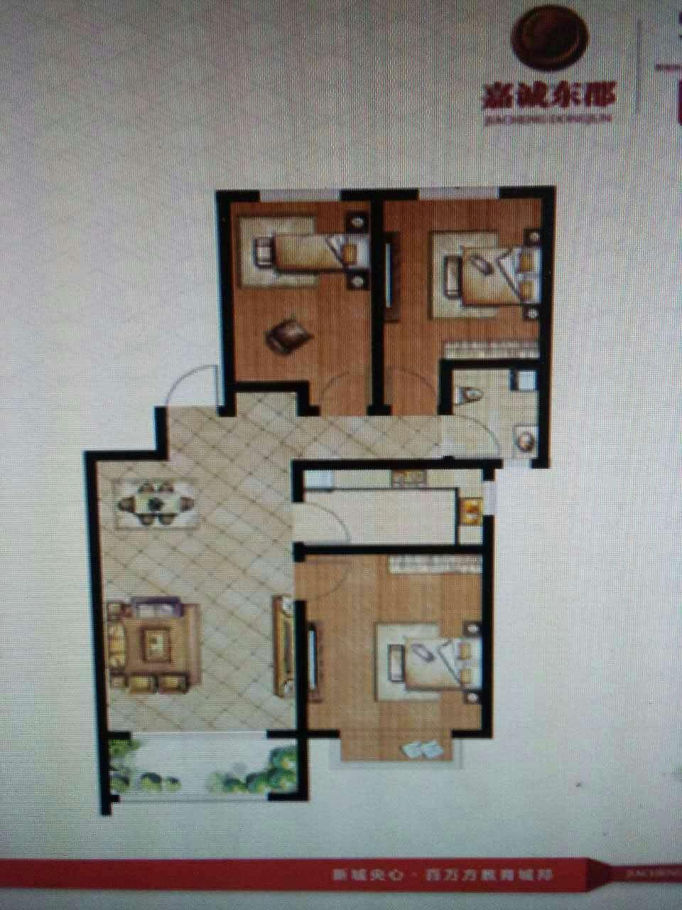 嘉城盛世 3室2厅 10楼