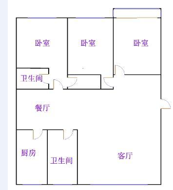 盛和景园 3室2厅  简装 95万