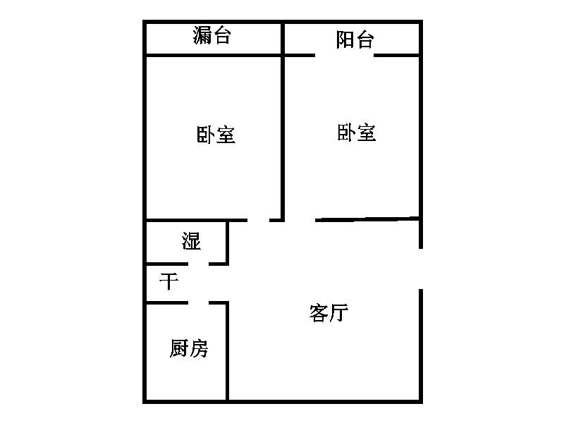 新四合小区 2室1厅  简装 39万