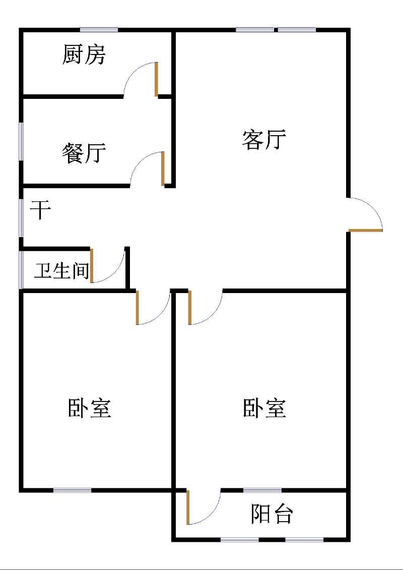 园林处宿舍 2室2厅 4楼
