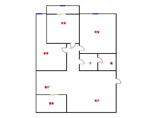 嘉和居 3室2厅 4楼