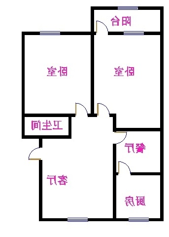 肖何庄小区 2室2厅 双证齐全 简装 72万