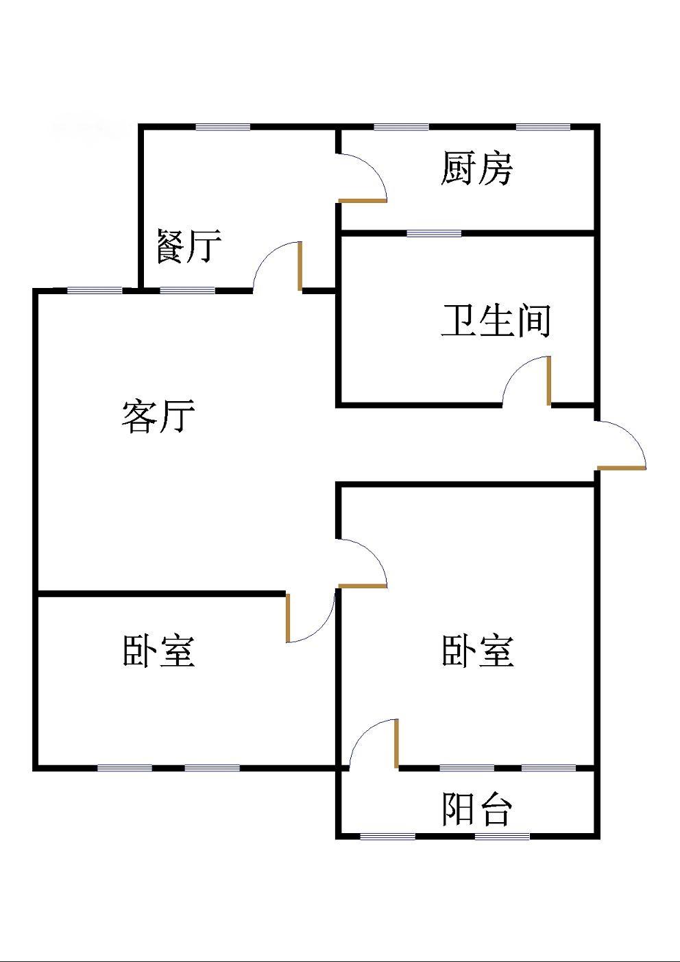 水利局宿舍 2室2厅 6楼