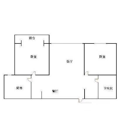 金腾豪庭 2室1厅  简装 85万