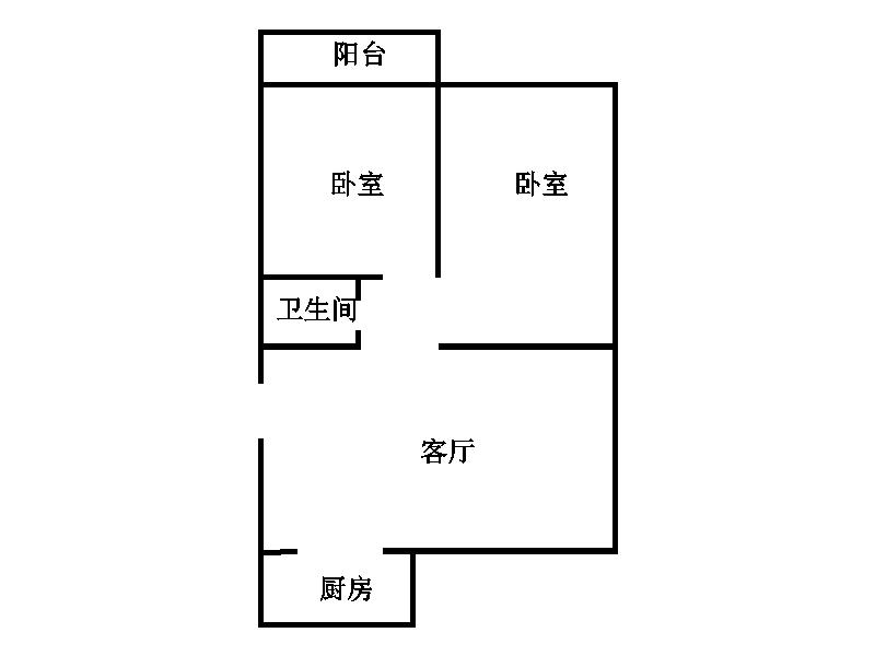 领秀天衢 2室2厅 3楼