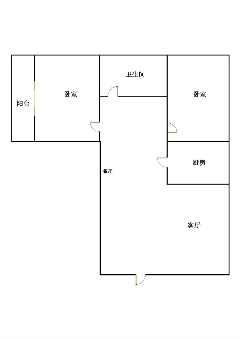 尚城国际 2室1厅 15楼