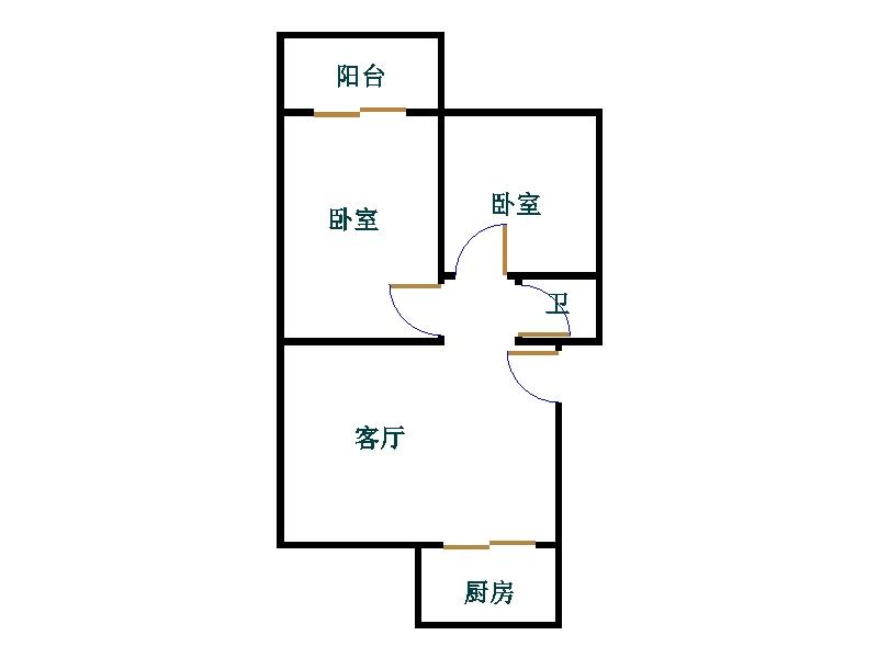 东长庄园 2室1厅 3楼