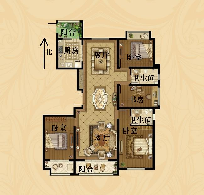 东海香港城 4室2厅  简装 240万