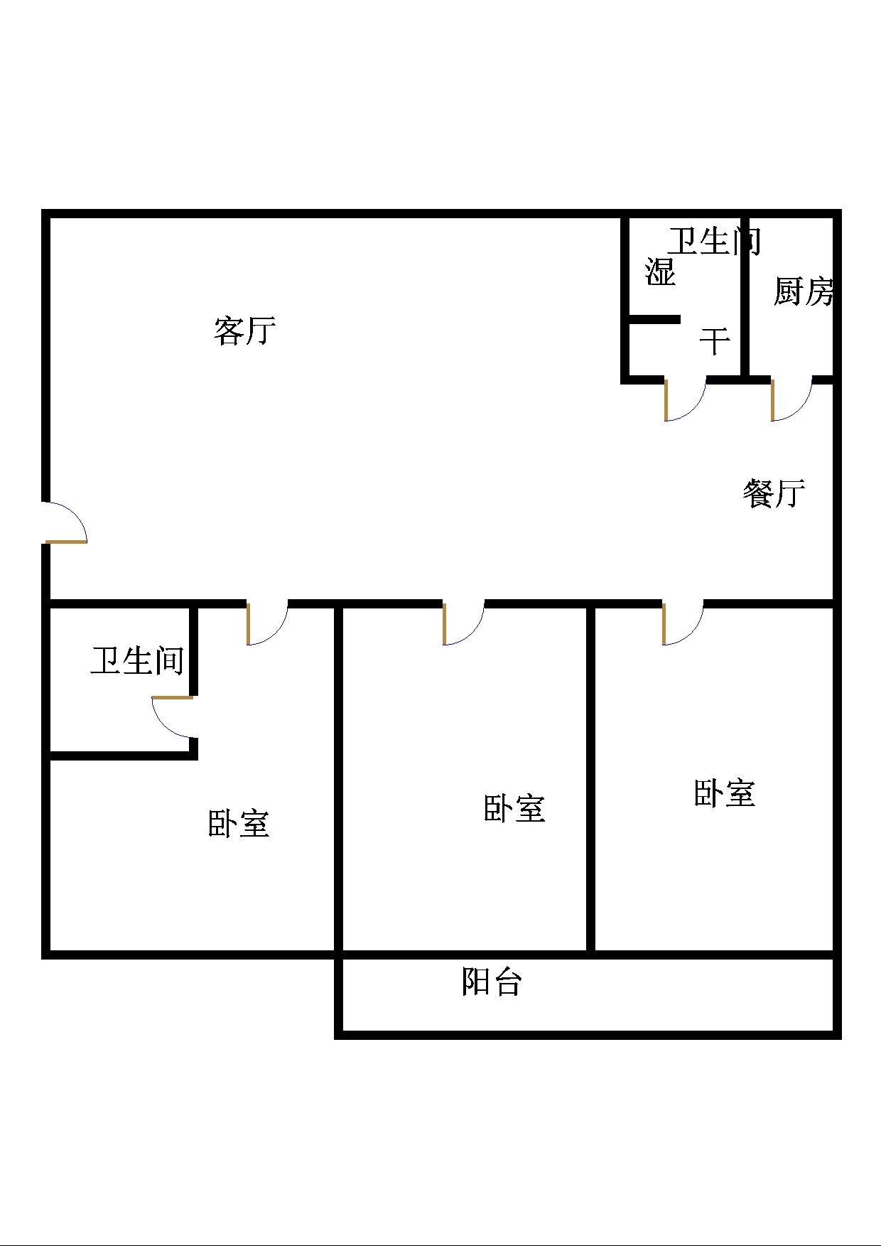 青龙潭小区 2室2厅 双证齐全 简装 136万