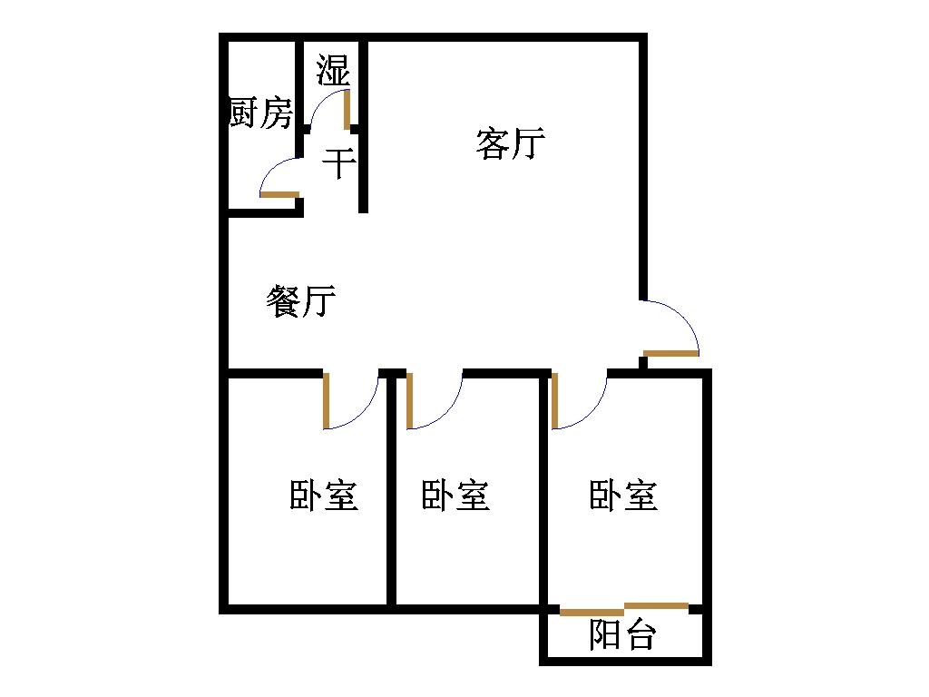 西长新村 3室2厅  精装 58万