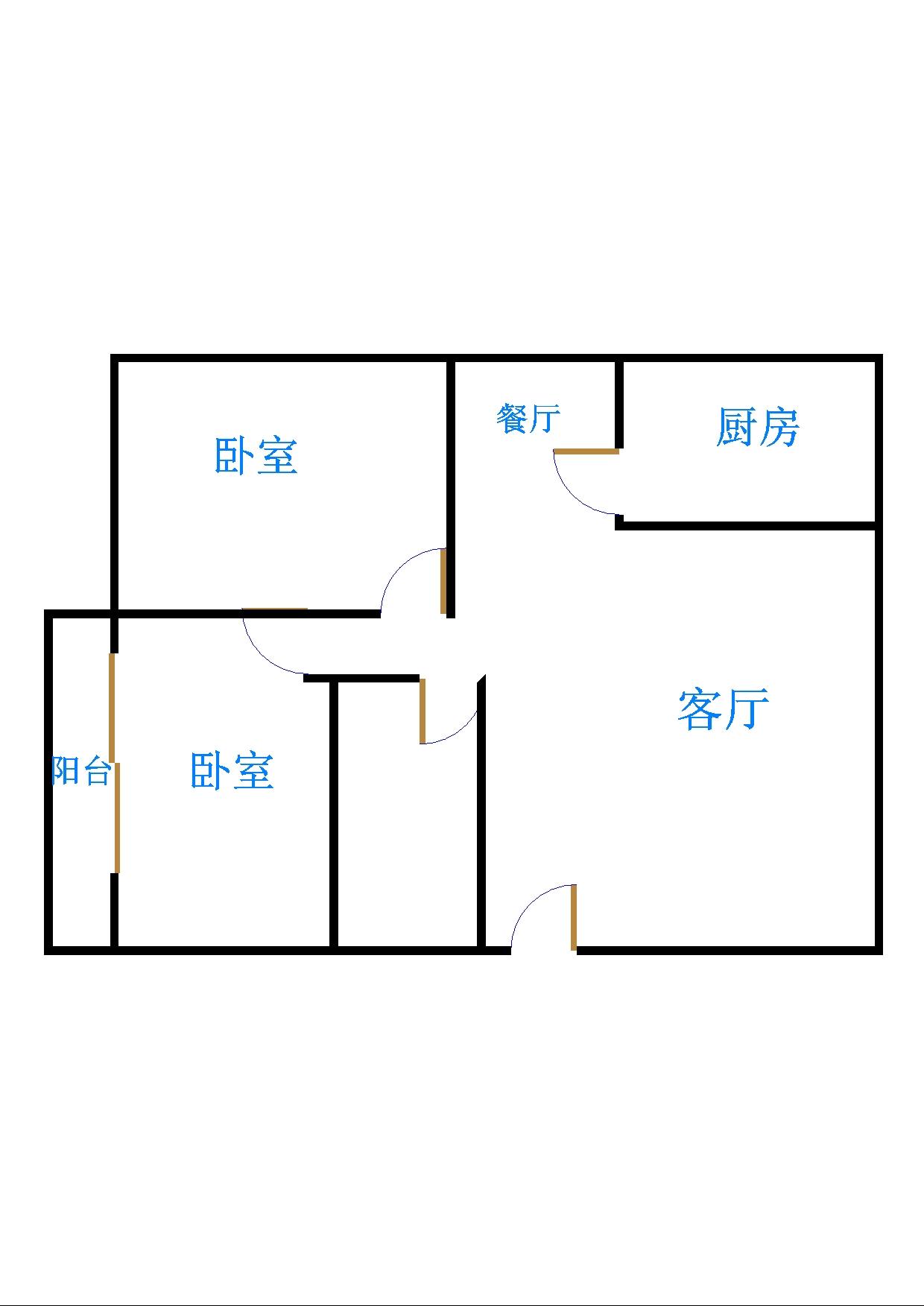 农科所宿舍 2室2厅 3楼