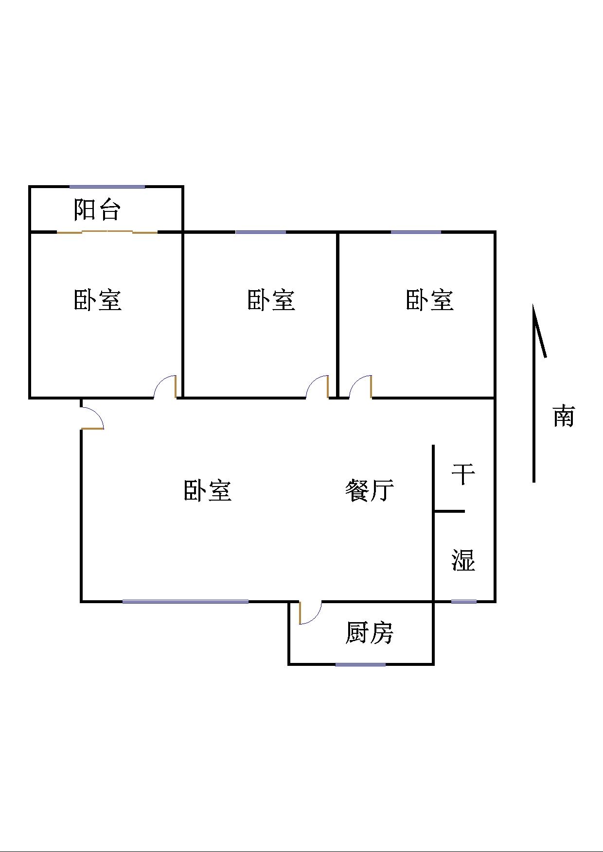 湘江小区西区 3室2厅  简装 130万