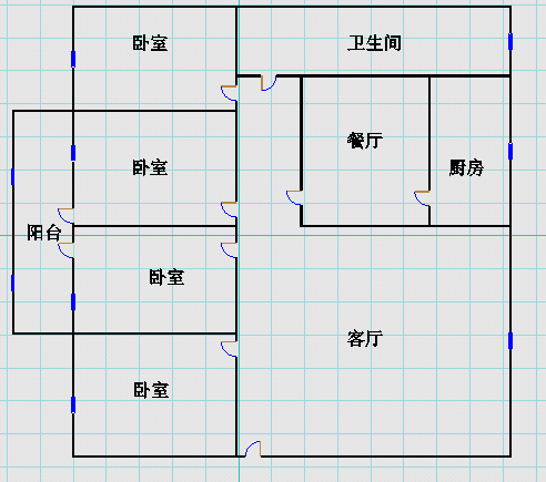 广川小区 4室2厅  精装 126万
