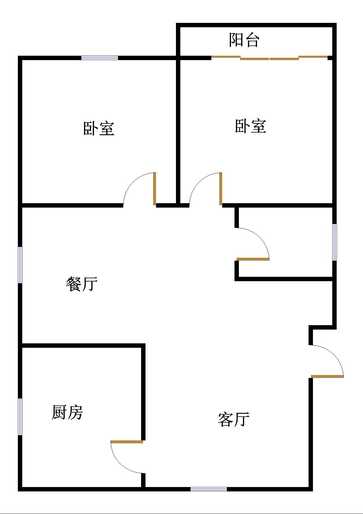 萧何庄园 2室2厅  简装 88万