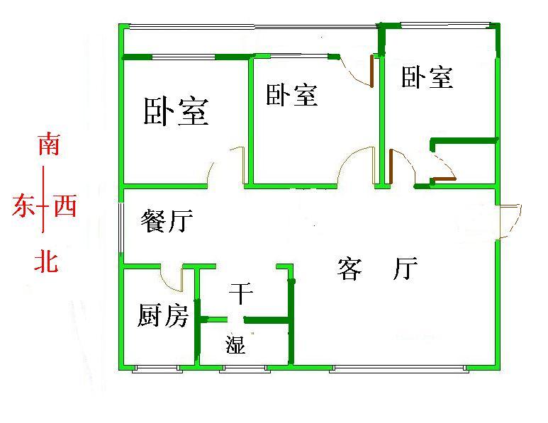 水文队宿舍 3室2厅 5楼