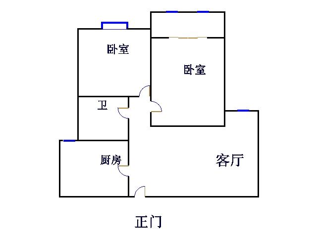 盛和景园 2室2厅 4楼