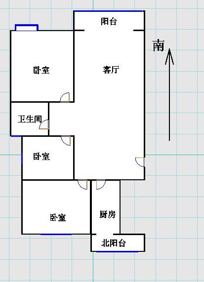 唐人中心 3室2厅 9楼