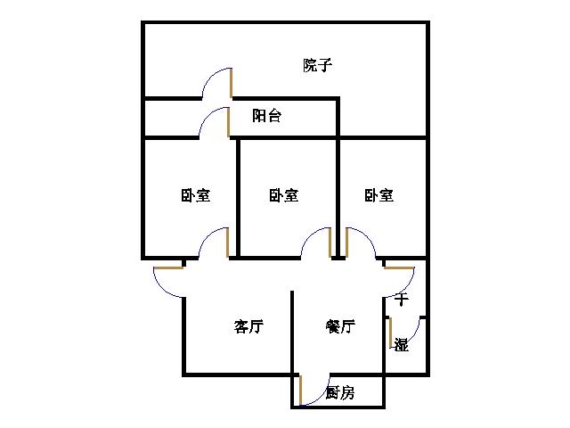 纺织局宿舍 3室2厅 过五年 精装 135万