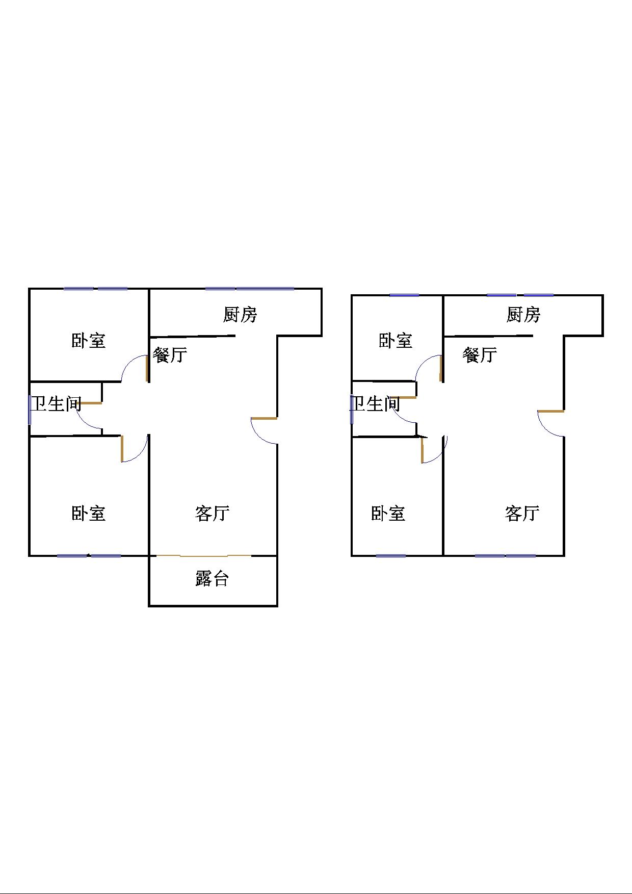 德百玫瑰园 4室3厅 双证齐全 毛坯 195万